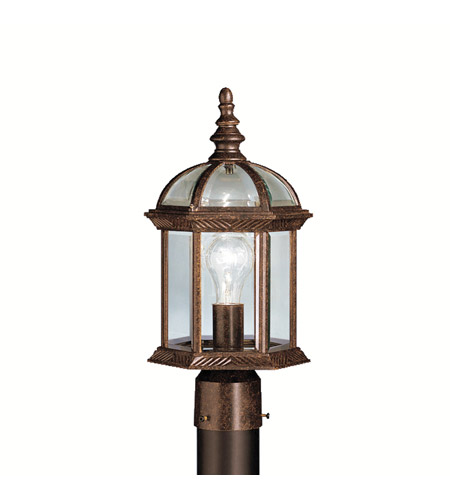 Kichler 9935TZ Barrie 1 Light 16 inch Tannery Bronze Outdoor Post Lantern in Standard photo