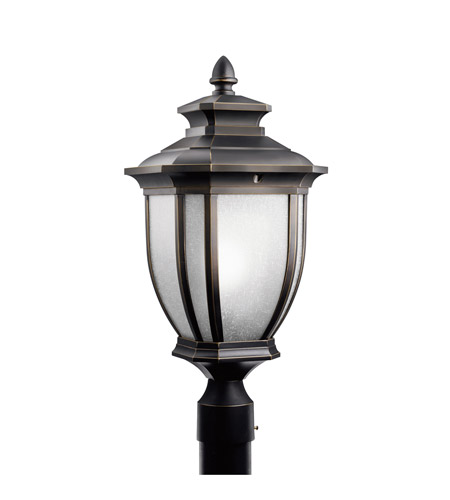 Kichler Lighting Salisbury 1 Light Outdoor Post Lantern in Rubbed Bronze 9938RZ photo