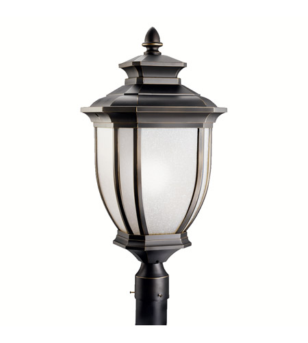 Kichler Lighting Salisbury 1 Light Outdoor Post Lantern in Rubbed Bronze 9940RZ photo