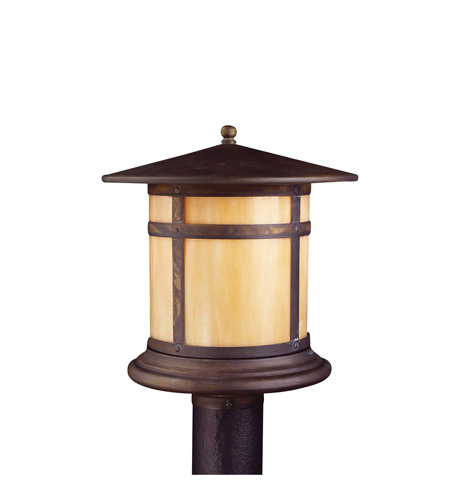 Kichler Lighting Tularosa 1 Light Outdoor Post Lantern in Canyon View 9945CV