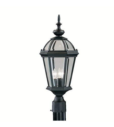 Kichler Lighting Trenton 3 Light Outdoor Post Lantern in Black 9951BK photo