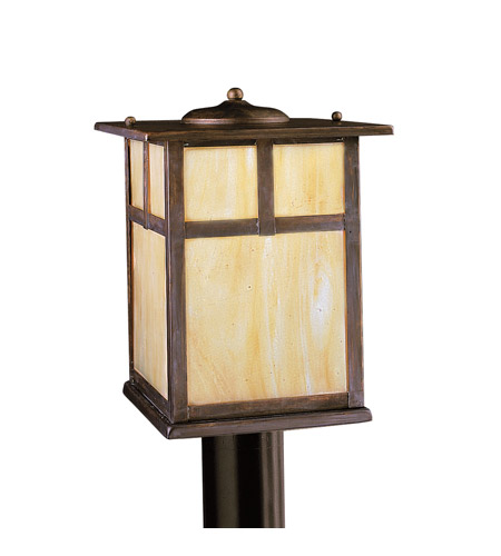 Kichler Lighting Alameda 1 Light Outdoor Post Lantern in Canyon View 9953CV photo