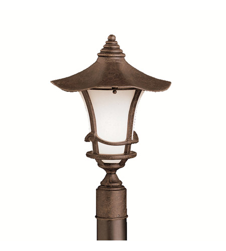 Kichler Lighting Cotswold 1 Light Outdoor Post Lantern in Aged Bronze 9954AGZ photo