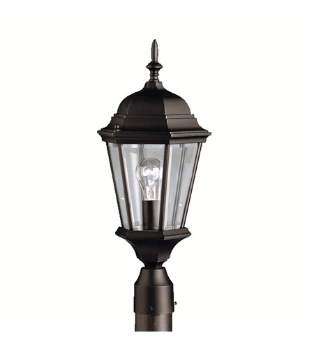 Kichler Lighting Madison 1 Light Outdoor Post Lantern in Black 9956BK photo