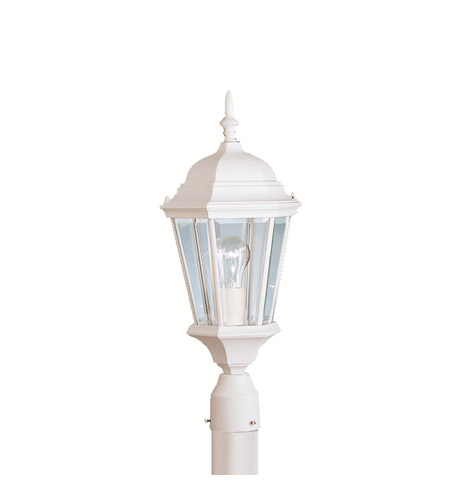 Kichler Lighting Madison 1 Light Outdoor Post Lantern in White 9956WH
