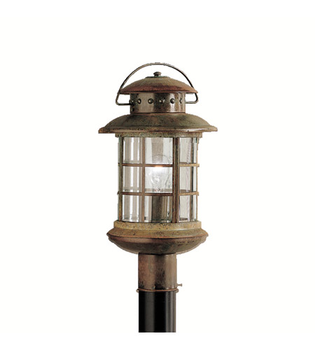 Kichler 9962RST Rustic 1 Light 19 inch Rustic Outdoor Post Lantern photo