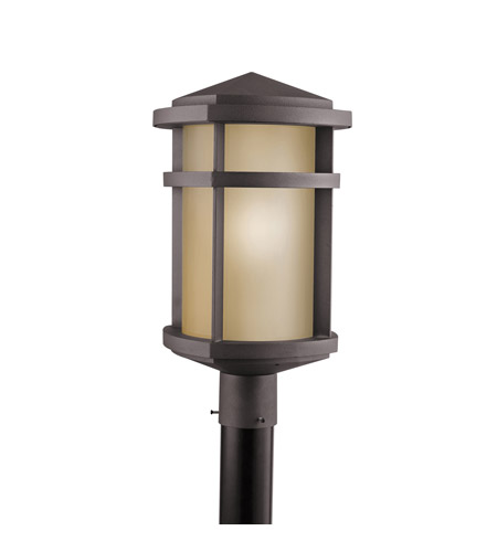Kichler Lighting Lantana 1 Light Outdoor Post Lantern in Architectural Bronze 9967AZ photo