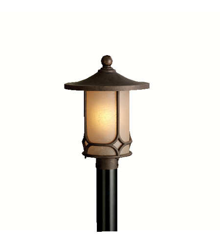 Kichler Lighting Chicago 1 Light Outdoor Post Lantern in Aged Bronze 9975AGZ