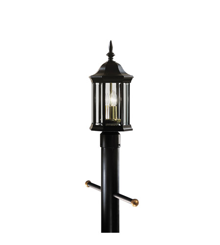 Kichler Lighting Chesapeake 3 Light Outdoor Post Lantern in Black (Painted) 9977BK