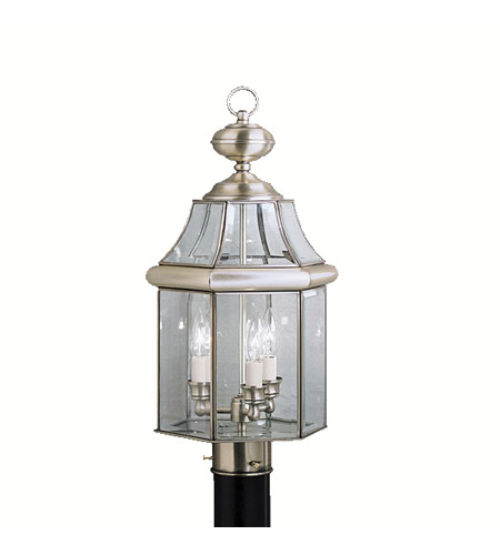 Kichler Lighting Embassy Row 3 Light Outdoor Post Lantern in Antique Pewter 9985AP photo