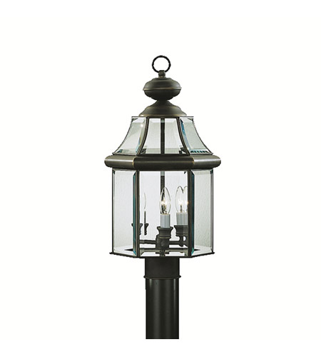 Kichler Lighting Embassy Row 3 Light Outdoor Post Lantern in Olde Bronze 9985OZ