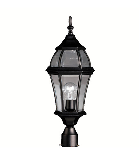 Kichler Lighting Townhouse 1 Light Outdoor Post Lantern in Black (Painted) 9992BK