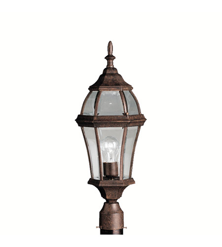 Kichler 9992TZ Townhouse 1 Light 24 inch Tannery Bronze Outdoor Post Lantern photo