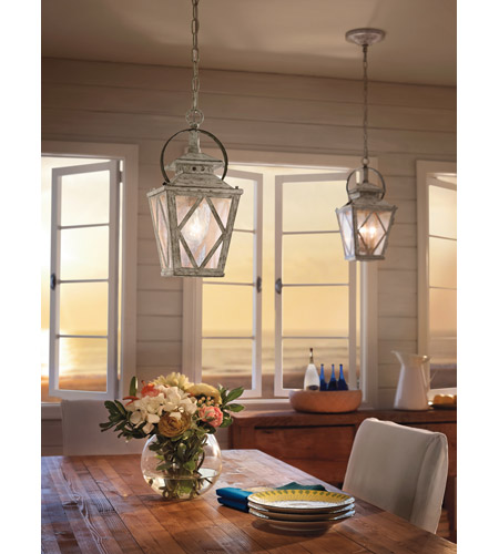 Kichler 43258DAW Hayman Bay 2 Light 9 inch Distressed Antique White Pendant Ceiling Light Kichler_HaymanBay_43258DAW_DiningRoom.jpg
