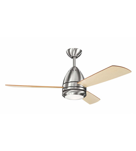 Kichler s390120bss eva 46 inch brushed stainless steel with light kichler s390120bss eva 46 inch brushed stainless steel with light oak blades ceiling fan photo aloadofball Choice Image