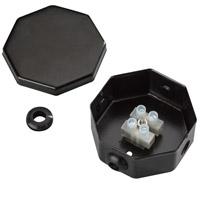 Kichler 10189BK Interior Tape Light Black 2 inch Tape Light Splice Box Assembly