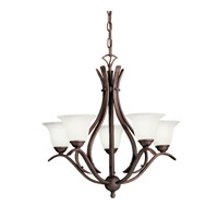 Kichler Lighting Dover 5 Light Fluorescent Chandelier in Tannery Bronze 10320TZ photo thumbnail