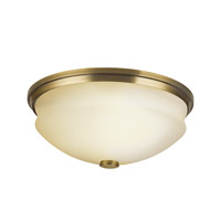 Kichler Lighting Pierson 2 Light Fluorescent Flush Mount in Antique Brass 10408AB photo thumbnail