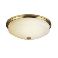 Kichler Lighting Pierson 3 Light Fluorescent Sconce in Antique Brass 10409AB photo thumbnail