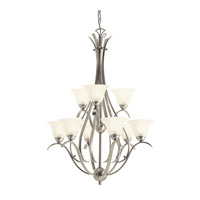 Kichler Lighting Dover 9 Light Fluorescent Chandelier in Brushed Nickel 10420NI photo thumbnail