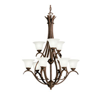 Kichler Lighting Dover 9 Light Fluorescent Chandelier in Tannery Bronze 10420TZ photo thumbnail