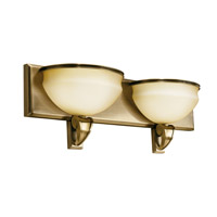 Kichler Lighting Pierson 2 Light Fluorescent Bath Vanity in Antique Brass 10443AB photo thumbnail