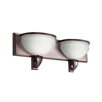 Kichler Lighting Pierson 2 Light Fluorescent Bath Vanity in Royal Bronze 10443RBZ