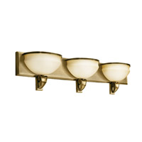 Kichler Lighting Pierson 3 Light Fluorescent Bath Vanity in Antique Brass 10444AB photo thumbnail