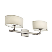 Kichler Lighting Slice 2 Light Fluorescent Sconce in Satin Nickel 10476SN