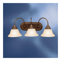 Kichler Lighting Telford 3 Light Fluorescent Bath Vanity in Olde Bronze 10609OZ photo thumbnail