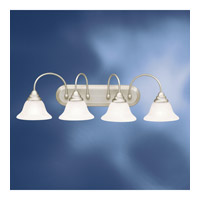 Telford 4 Light 34 inch Brushed Nickel Fluorescent Bath Vanity Wall Light