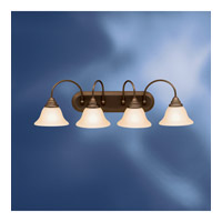 Kichler Lighting Telford 4 Light Fluorescent Bath Vanity in Olde Bronze 10610OZ photo thumbnail