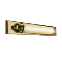Kichler Lighting Pierson 1 Light Fluorescent Bath Vanity in Antique Brass 10615AB