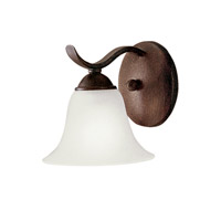 Kichler Lighting Dover 1 Light Fluorescent Sconce in Tannery Bronze 10618TZ