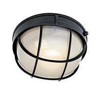 Kichler 10622BK Signature 1 Light 10 inch Black Fluorescent Outdoor Wall Lantern
