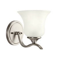 Kichler 10636NI Wedgeport 1 Light 6 inch Brushed Nickel Fluorescent Sconce Wall Light