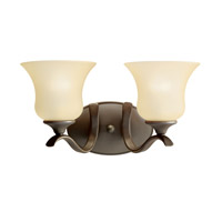 Kichler 10637OZ Wedgeport 2 Light 15 inch Olde Bronze Fluorescent Bath Vanity Wall Light