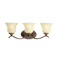 Kichler Lighting Wedgeport 3 Light Fluorescent Bath Vanity in Olde Bronze 10638OZ
