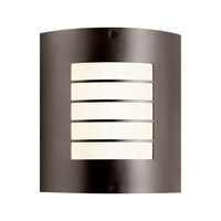 Kichler 10640AZ Newport 1 Light 11 inch Architectural Bronze Fluorescent Outdoor Wall Lantern photo thumbnail