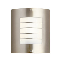 Newport 1 Light Brushed Nickel Fluorescent Outdoor Wall Lantern