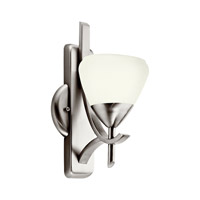 Kichler Lighting Olympia 1 Light Fluorescent Sconce in Antique Pewter 10678AP photo thumbnail