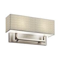 Kichler 10696SN Signature 2 Light 16 inch Satin Nickel Fluorescent Sconce Wall Light photo thumbnail