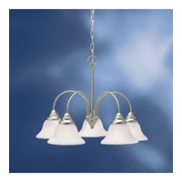 Telford 5 Light 25 inch Brushed Nickel Fluorescent Chandelier Ceiling Light