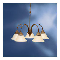 Kichler Lighting Telford 5 Light Fluorescent Chandelier in Olde Bronze 10704OZ photo thumbnail