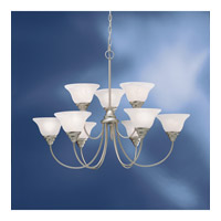 Kichler 10705NI Telford 9 Light 34 inch Brushed Nickel Fluorescent Chandelier Ceiling Light