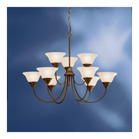 Kichler Lighting Telford 9 Light Fluorescent Chandelier in Olde Bronze 10705OZ photo thumbnail