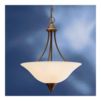 Kichler Lighting Telford 3 Light Fluorescent Pendant in Olde Bronze 10706OZ photo thumbnail