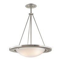 Kichler Lighting Signature 3 Light Fluorescent Pendant in Brushed Nickel 10725NI photo thumbnail
