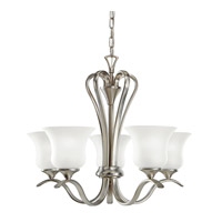 Kichler 10740NI Wedgeport 5 Light 22 inch Brushed Nickel Fluorescent Chandelier Ceiling Light