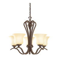 Kichler 10740OZ Wedgeport 5 Light 22 inch Olde Bronze Fluorescent Chandelier Ceiling Light